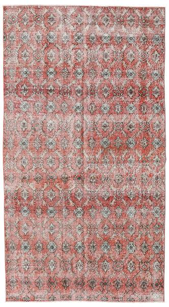 Colored Vintage Tapis 140X257 Moderne Fait Main Gris Clair/Rouge Foncé (Laine, Turquie)