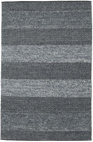 Folke - Denim 青 絨毯 200X300 モダン 手織り 濃いグレー/薄い灰色 (ウール, インド)