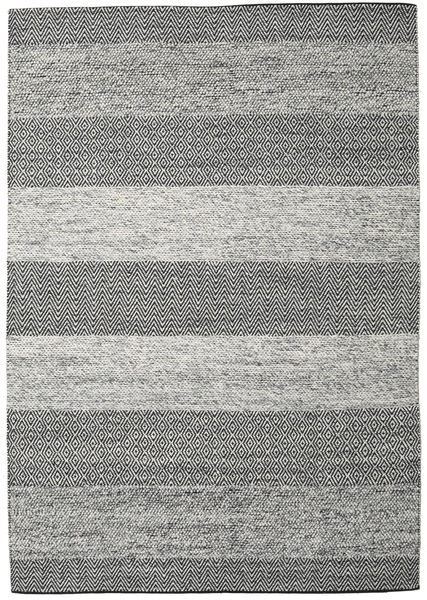 Folke - Grey Rug 250X350 Authentic  Modern Handwoven Dark Grey/Light Grey Large (Wool, India)