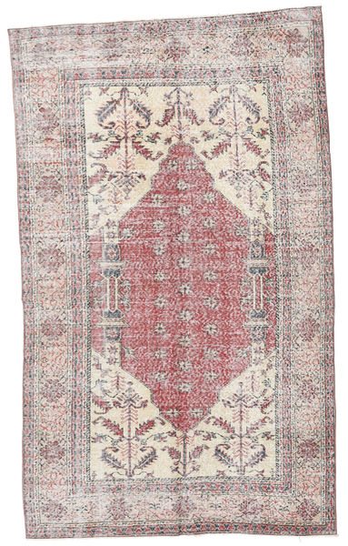 Colored Vintage Rug 153X252 Authentic  Modern Handknotted Beige/White/Creme/Light Purple (Wool, Turkey)