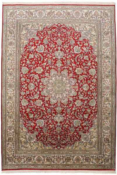 Kashmir 100% Silkki Matto 172X248 Itämainen Käsinsolmittu Vaaleanharmaa/Tummanharmaa (Silkki, Intia)