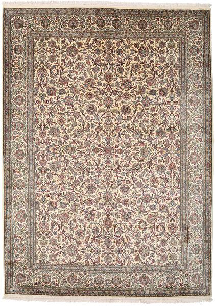 Kashmir Pure Silk Rug 177X247 Authentic  Oriental Handknotted Light Grey/Beige (Silk, India)