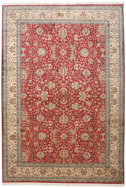 カシミール ピュア シルク 絨毯 188X273 オリエンタル 手織り 薄茶色/茶 (絹, インド)