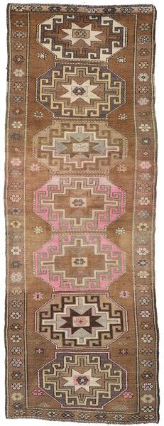 Herki Vintage Rug 150X351 Authentic  Oriental Handknotted Hallway Runner  Light Brown/Brown (Wool, Turkey)