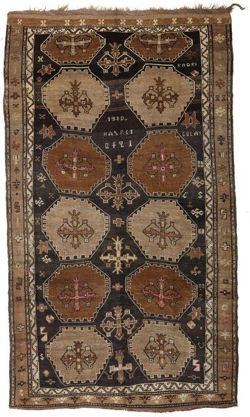 Herki Vintage Rug 200X335 Authentic  Oriental Handknotted Brown/Black (Wool, Turkey)
