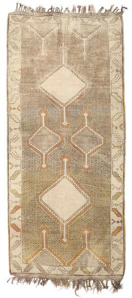 Herki Vintage Rug 132X290 Authentic  Oriental Handknotted Hallway Runner  Light Brown/Beige (Wool, Turkey)