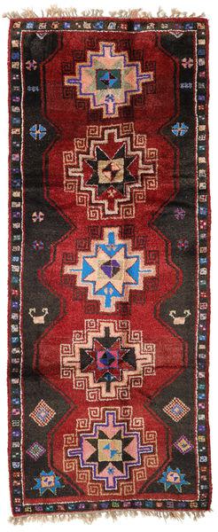 Herki Vintage Rug 170X416 Authentic  Oriental Handknotted Hallway Runner  Dark Red/Black (Wool, Turkey)