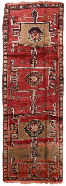 Herki Vintage Matto 157X465 Itämainen Käsinsolmittu Käytävämatto Tummanpunainen/Tummanruskea (Villa, Turkki)