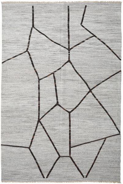 Kelim Halbantik Türkei Teppich  297X446 Echter Orientalischer Handgewebter Hellgrau Großer (Wolle, Türkei)