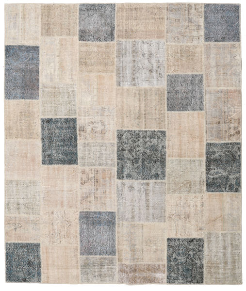 Patchwork Rug 250X294 Authentic  Modern Handknotted Light Grey/Light Brown Large (Wool, Turkey)