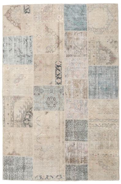 パッチワーク 絨毯 197X300 モダン 手織り 薄い灰色/薄茶色 (ウール, トルコ)