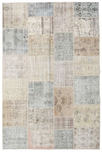 Patchwork Rug 198X298 Authentic  Modern Handknotted Light Grey/Beige (Wool, Turkey)