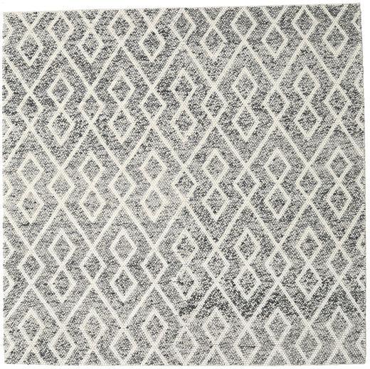 Hudson - Melange 黒 絨毯 250X250 モダン 正方形 薄い灰色/濃いグレー 大きな (ウール, インド)