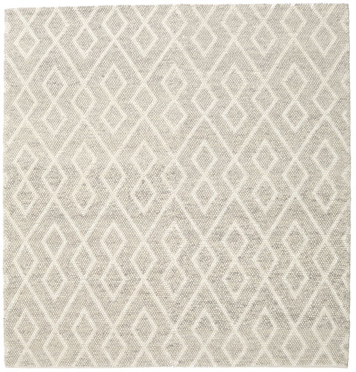 Hudson - Melange Grey Rug 250X250 Modern Square Light Grey/Dark Beige/Beige Large (Wool, India)