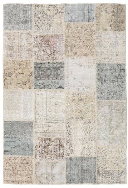 パッチワーク 絨毯 158X233 モダン 手織り 薄い灰色 (ウール, トルコ)