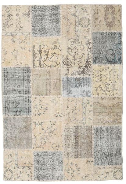 Patchwork Matto 157X232 Moderni Käsinsolmittu Vaaleanharmaa/Vaaleanruskea/Beige (Villa, Turkki)