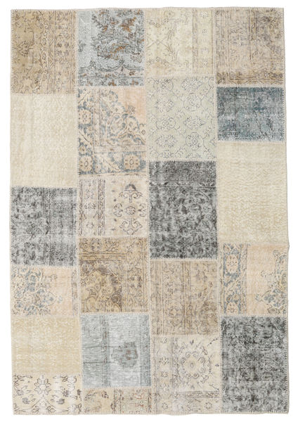 Patchwork Rug 159X232 Authentic  Modern Handknotted Light Grey/Light Brown (Wool, Turkey)