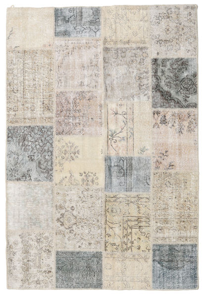 Patchwork Rug 158X233 Authentic  Modern Handknotted Light Grey (Wool, Turkey)