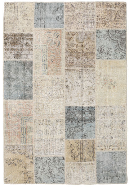 Patchwork Rug 159X235 Authentic  Modern Handknotted Light Grey/Light Brown (Wool, Turkey)