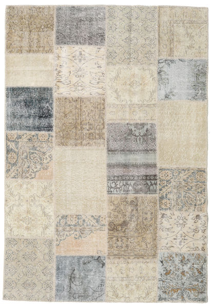 Patchwork Rug 157X231 Authentic  Modern Handknotted Light Brown/Light Grey (Wool, Turkey)