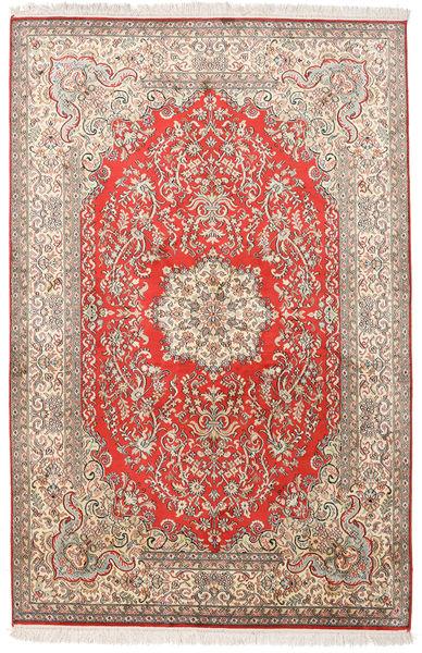 Kashmir Ren Silke Teppe 124X190 Ekte Orientalsk Håndknyttet Beige/Lysbrun (Silke, India)