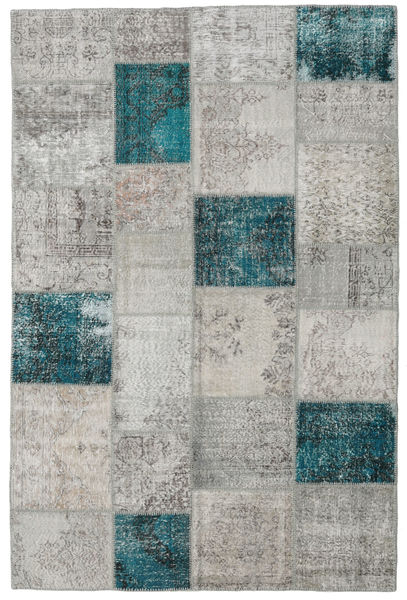 Patchwork Rug 196X300 Authentic  Modern Handknotted Light Grey (Wool, Turkey)