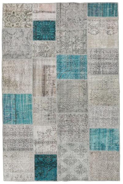 Patchwork Rug 195X301 Authentic  Modern Handknotted Light Grey/Blue (Wool, Turkey)