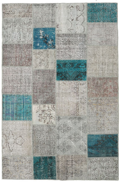 Patchwork Rug 200X301 Authentic  Modern Handknotted Light Grey/Dark Grey (Wool, Turkey)