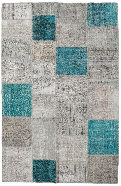 Patchwork Rug 196X301 Authentic  Modern Handknotted Light Grey (Wool, Turkey)