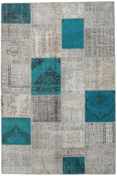 Patchwork Rug 200X302 Authentic  Modern Handknotted Light Grey/Dark Grey (Wool, Turkey)