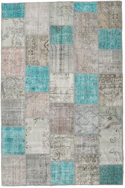 パッチワーク 絨毯 200X302 モダン 手織り 薄い灰色/ターコイズブルー (ウール, トルコ)