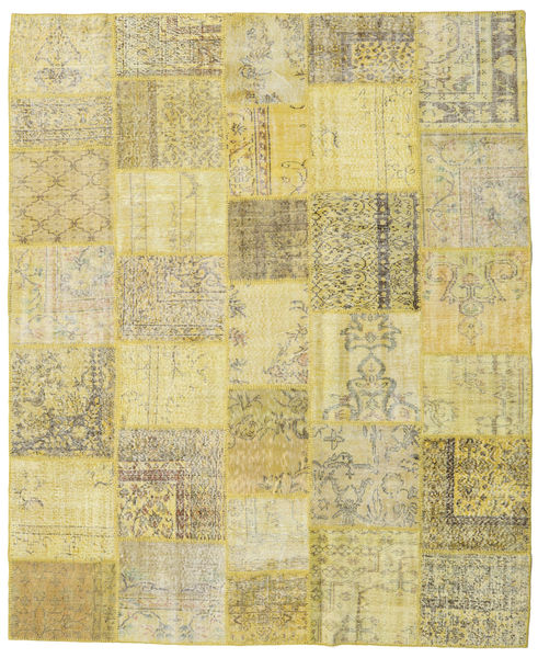 Patchwork Rug 252X303 Authentic  Modern Handknotted Yellow/Light Green Large (Wool, Turkey)