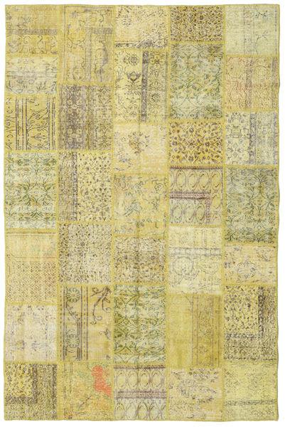 Patchwork Matto 198X301 Moderni Käsinsolmittu Vaaleanvihreä/Oliivinvihreä (Villa, Turkki)