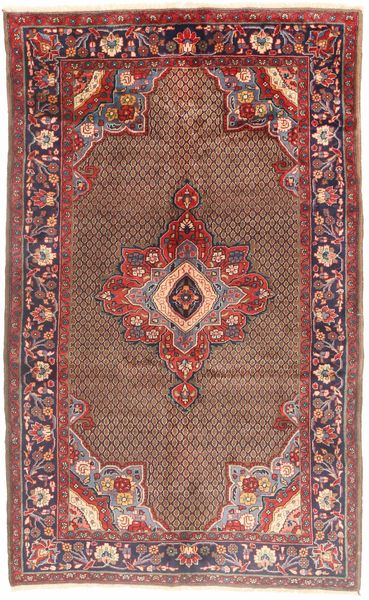 Koliai Teppe 165X280 Ekte Orientalsk Håndknyttet Mørk Rød/Lysbrun (Ull, Persia/Iran)
