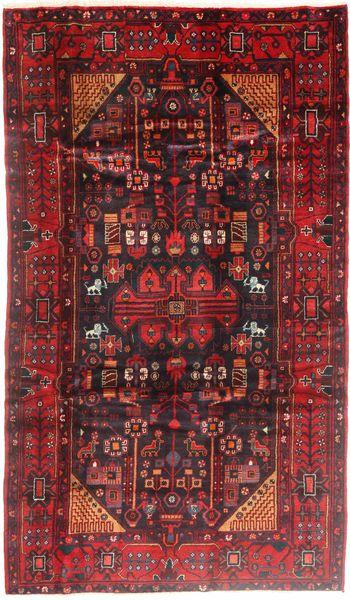 Nahavand Matto 170X300 Itämainen Käsinsolmittu Tummanpunainen/Tummanruskea (Villa, Persia/Iran)