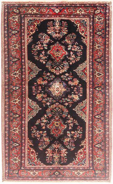 Hamadan Tapis 128X205 D'orient Fait Main Rouge Foncé/Marron (Laine, Perse/Iran)