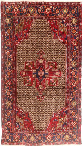 Koliai Rug 150X275 Authentic  Oriental Handknotted Dark Red/Brown (Wool, Persia/Iran)