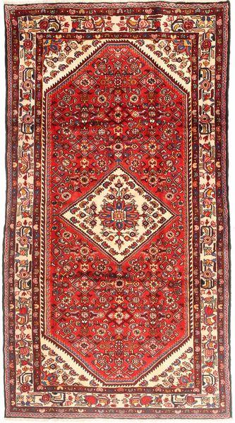 Hosseinabad Matto 173X318 Itämainen Käsinsolmittu Tummanpunainen/Ruskea (Villa, Persia/Iran)