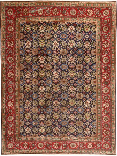 Tabriz Patina Rug 293X400 Authentic  Oriental Handknotted Brown/Dark Red Large (Wool, Persia/Iran)