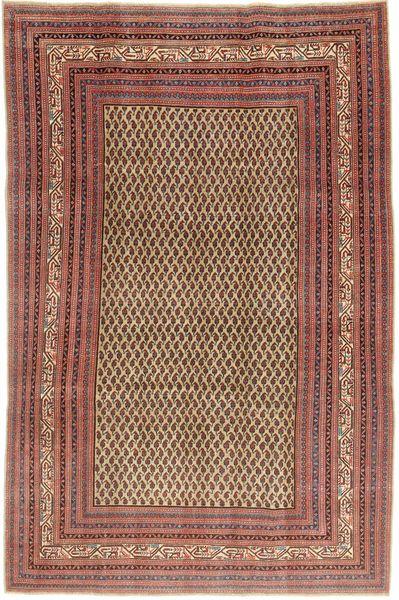 Arak Patina Matta 212X320 Äkta Orientalisk Handknuten Mörkröd/Brun (Ull, Persien/Iran)