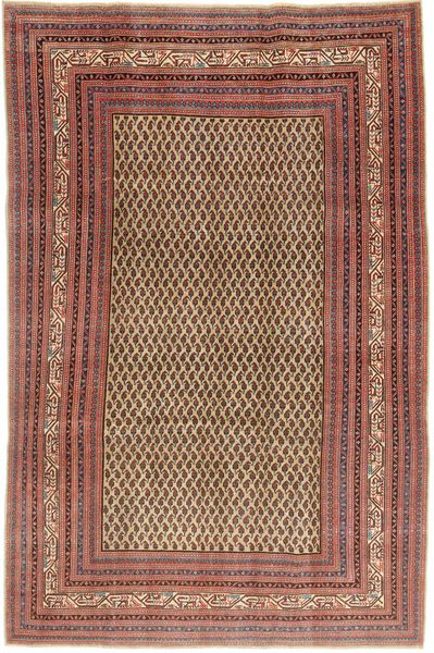 Arak Patina Rug 212X320 Authentic  Oriental Handknotted Dark Red/Light Brown (Wool, Persia/Iran)