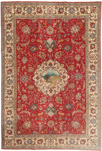 Tabriz Patina Matto 243X355 Itämainen Käsinsolmittu Vaaleanruskea/Ruoste (Villa, Persia/Iran)