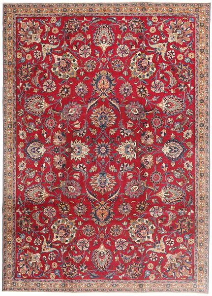 Mashad Patina Rug 225X315 Authentic  Oriental Handknotted Crimson Red/Brown/Light Brown (Wool, Persia/Iran)