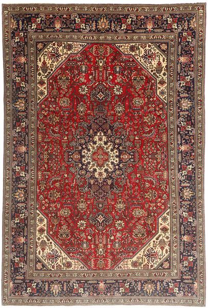 Tabriz Rug 195X290 Authentic  Oriental Handknotted Dark Red/Dark Brown (Wool, Persia/Iran)