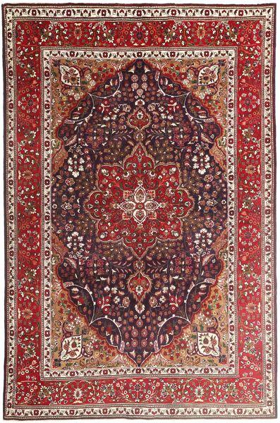 Tabriz Rug 207X315 Authentic  Oriental Handknotted Dark Red/Dark Brown/Brown (Wool, Persia/Iran)