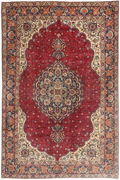 Tabriz Alfombra 197X305 Oriental Hecha A Mano Marrón/Marrón Claro (Lana, Persia/Irán)