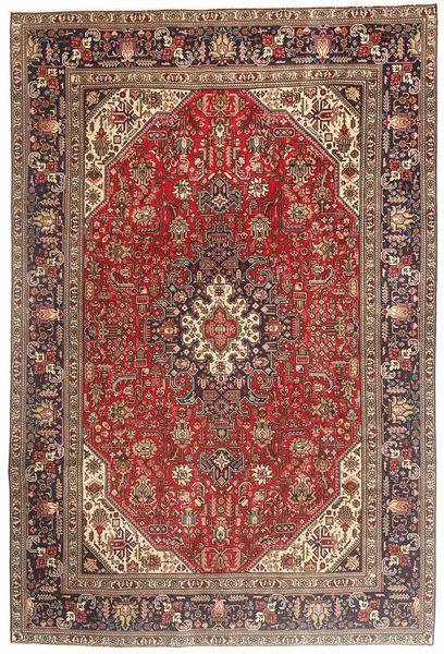 Tabriz Rug 194X290 Authentic  Oriental Handknotted Dark Brown/Dark Red (Wool, Persia/Iran)