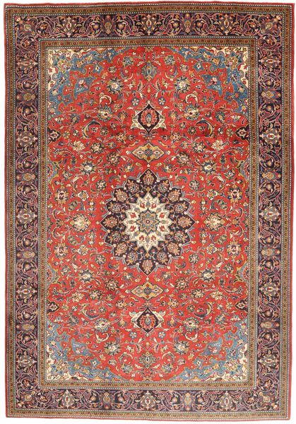 Mahal Rug 210X300 Authentic  Oriental Handknotted Dark Red/Brown (Wool, Persia/Iran)