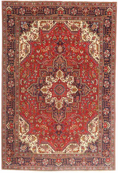 Tabriz Rug 197X290 Authentic  Oriental Handknotted Dark Red/Brown (Wool, Persia/Iran)