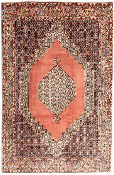 Senneh Matto 195X295 Itämainen Käsinsolmittu Vaaleanruskea/Ruskea (Villa, Persia/Iran)
